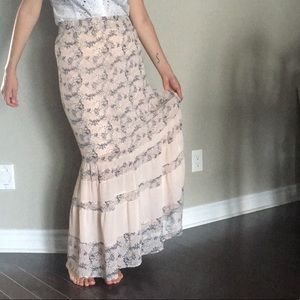 Pink floral skirt from Forever 21